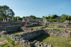 Gamzigrad - αρχαίος ρωμαϊκός ο σύνθετος των παλατιών και των ναών Fel στοκ φωτογραφία με δικαίωμα ελεύθερης χρήσης