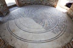 Gamzigrad Felix Romuliana mosaic. Gamzigrad - the ancient Roman complex of palaces and temples Felix Romuliana, built by Emperor Galerius in Dacia Ripensis stock photography