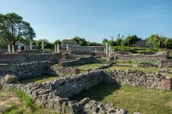 Gamzigrad - the ancient Roman complex of palaces and temples Felix Romuliana, Serbia royalty free stock photography