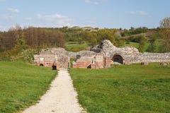 Gamzigrad Romuliana, Palace of Galerius. Felix Romuliana, ancient Roman emperor Galerius palace, Zajecar, Serbia, UNESCO World Heritage Site royalty free stock image