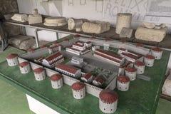 Model Felix Romuliana Gamzigrad made of plaster. Gamzigrad, Serbia - April 09, 2019: Felix Romuliana Gamzigrad is an archeological site nearby. Zaječar the stock image