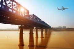 Gan River Bridge Stock Afbeelding