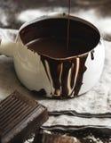 Ganache in a pot food photography recipe idea stock photos