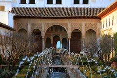 Ganada spain Trädgårdar av Generalife Arkivfoton