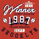 Ganador Brooklyn del diseño ilustración del vector