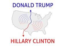 Ganador de Clinton Donald Trump contra Hillary Clinton Elección 20 de los E.E.U.U. Fotografía de archivo