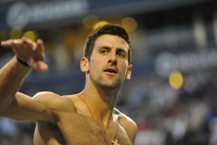Ganador de Djokovic Novak de la taza 2012 (0) de Rogers Imágenes de archivo libres de regalías