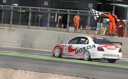 Ganador de la raza, touring car británicos Imagen de archivo libre de regalías