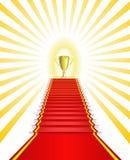 Ganador de la taza del oro. Foto de archivo