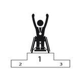 Ganador de los juegos de Paralympic del deporte de la desventaja de la neutralización Fotografía de archivo