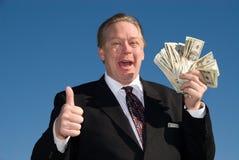 Ganador de lotería. Imagen de archivo