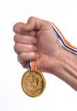 Ganador de medalla imagen de archivo libre de regalías