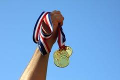 Ganador de medalla de oro Imagen de archivo libre de regalías