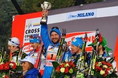 Ganador de Nikolay Morilov en la raza de Milano Fotografía de archivo libre de regalías