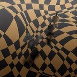 Ganador del blanco del rey de la batalla del ajedrez? Foto de archivo