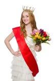 Ganador del concurso de belleza aislado fotografía de archivo libre de regalías