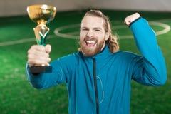 Ganador del fútbol fotografía de archivo libre de regalías