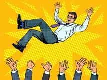 Ganador del hombre de negocios del éxito empresarial de Triumph stock de ilustración