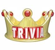 Ganador del juego de rey Queen Crown Competition de la palabra de las curiosidades Imagen de archivo libre de regalías