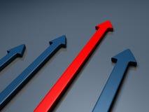 Ganador - flechas Imagen de archivo libre de regalías
