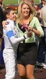 Ganador Joe Talamo de Santa Anita Derby Imagen de archivo libre de regalías