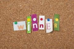 Ganador Victory Success Concept Foto de archivo
