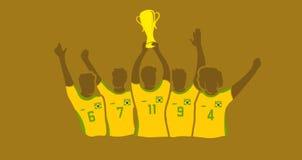 Ganadores de la taza del fútbol libre illustration