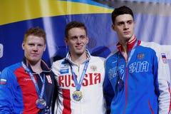 Ganadores de la taza de Salnikov Foto de archivo libre de regalías