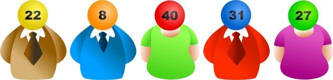 Ganadores de lotería stock de ilustración