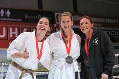 Ganadores del karate de la precipitación Imagenes de archivo