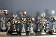 Ganadores del primer precio de la colección del trofeo imágenes de archivo libres de regalías