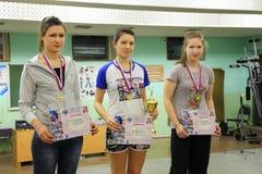 Ganadores en el tiro al arco tradicional del campeonato Imagenes de archivo