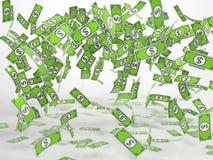 Ganancia inesperada de los billetes de banco cómicos del estilo Foto de archivo libre de regalías