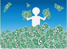 Ganancia inesperada del efectivo del dólar Foto de archivo
