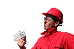 Ganancias o sueldo Imágenes de archivo libres de regalías