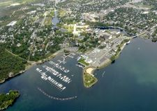 Gananoque aerial royalty free stock images