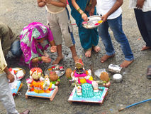 Ganapati Ritual Stock Images