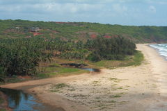 Ganapatipule beach and forest Stock Image