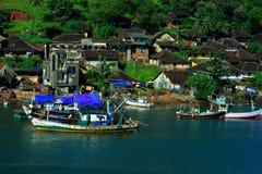 Ganapatipule waterfront scene Stock Images