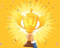 Ganar el premio de oro imagenes de archivo