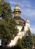 Ganavsky亭子 布拉格 cesky捷克krumlov中世纪老共和国城镇视图 免版税图库摄影