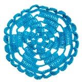Ganchillo hecho a mano azul Imagenes de archivo
