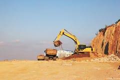 Gancho agarrador del excavador Foto de archivo libre de regalías