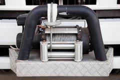 Gancho de la remolque de un coche de bomberos grande Es una herramienta del remolque de la emergencia a ayudar Fotos de archivo