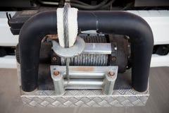 Gancho de la remolque de un coche de bomberos grande Es una herramienta del remolque de la emergencia a ayudar Fotografía de archivo libre de regalías