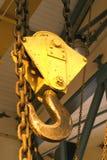 Gancho de leva de acero de la grúa Imagen de archivo libre de regalías