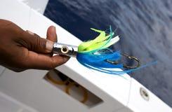 Gancho de leva de pesca fotografía de archivo