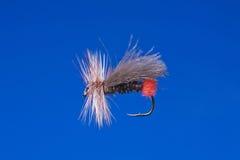 Gancho de leva de pesca de mosca imagen de archivo