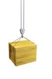 Gancho de leva que sostiene el envase de madera Imágenes de archivo libres de regalías