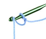 Gancho de leva y cuerda de rosca de ganchillo Imágenes de archivo libres de regalías